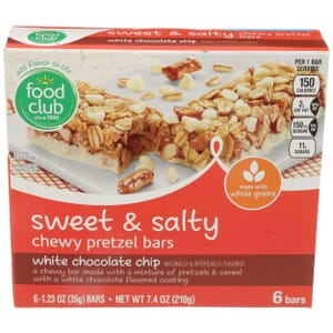 Sweet & Salty Chewy Pretzel Bars, White Chocolate Chip
