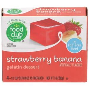 Strawberry Banana Gelatin Dessert