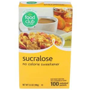 Sucralose, No Calorie Sweetener