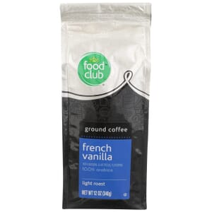 Ground Coffee - French Vanilla, 100% Arabica, Light Roast