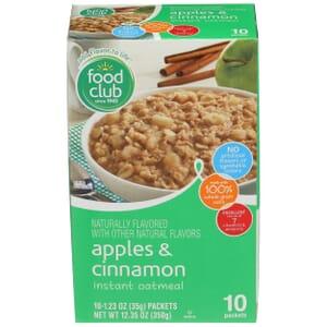 Apples & Cinnamon Instant Oatmeal