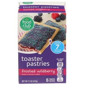Frosted Wildberry Toaster Pastries