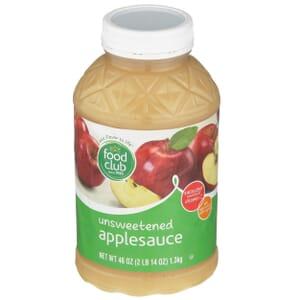 Applesauce, Unsweetened