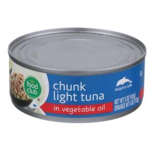 Chunk Light Tuna In Vegetable Oil