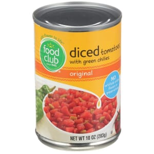 Diced Tomatoes With Green Chilies, Original