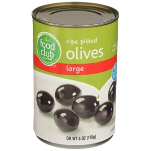 Ripe Pitted Olives, Large