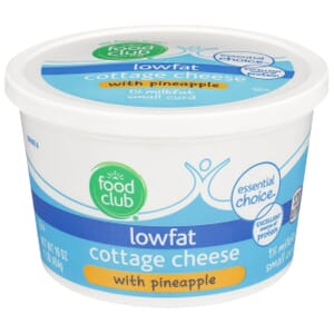 Lowfat Cottage Cheese With Pineapple, Small Curd