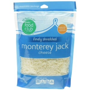 Finely Shredded Monterey Jack Cheese
