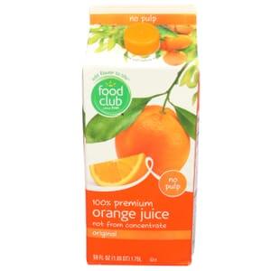 100% Premium Orange Juice, Original, No Pulp