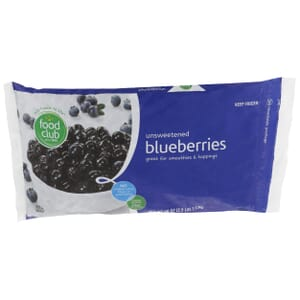 Blueberries, Unsweetened