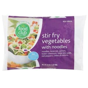 Stir Fry Vegetables With Noodles