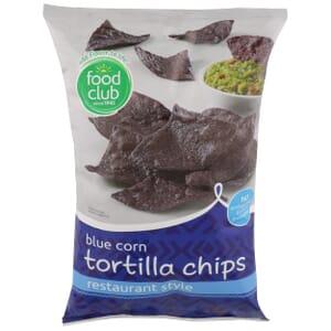Blue Corn Tortilla Chips, Restaurant Style