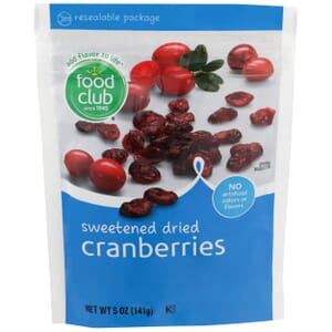 Dried Cranberries, Sweetened