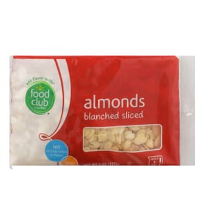 Almonds, Blanched Sliced