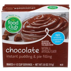 Chocolate Instant Pudding & Pie Filling