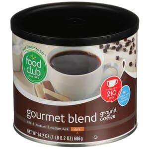 Ground Coffee - Gourmet Blend, Dark