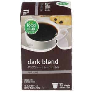 Single Cup Coffee - Dark Blend 100% Arabica Coffee, Dark Roast