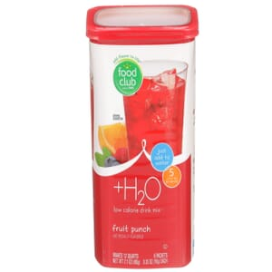 +H2O To Go!, Low Calorie Drink Mix, Fruit Punch
