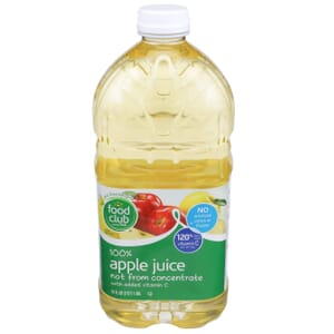 100% Apple Juice, With Added Vitamin C