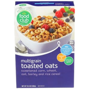 Multigrain Toasted Oats Cereal