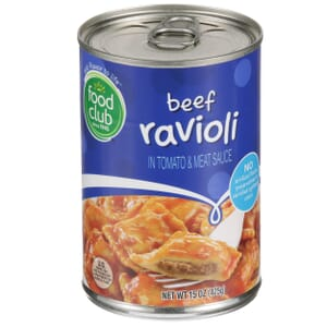 Beef Ravioli In Tomato & Meat Sauce