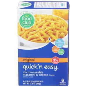 Original Quick'n Easy Microwaveable Macaroni & Cheese Dinner
