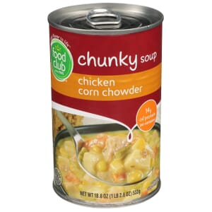 Chicken Corn Chowder Chunky Soup