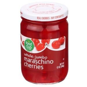 Maraschino Cherries, Whole Jumbo