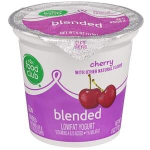 Cherry Lowfat Yogurt, Blended