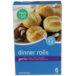 Dinner Rolls, Garlic