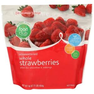 Whole Strawberries, Unsweetened