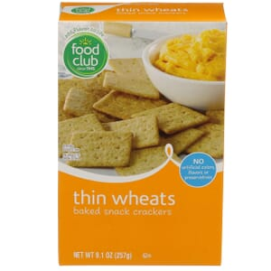 Thin Wheats Baked Snack Crackers