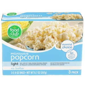Microwave Popcorn, No Butter - Light