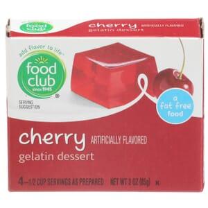 Cherry Gelatin Dessert