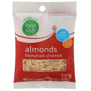 Almonds, Blanched Slivered