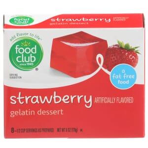 Strawberry Gelatin Dessert