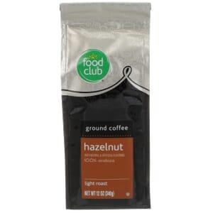 Ground Coffee - Hazelnut, 100% Arabica, Light Roast
