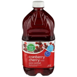 Cranberry Cherry Flavored Juice Cocktail