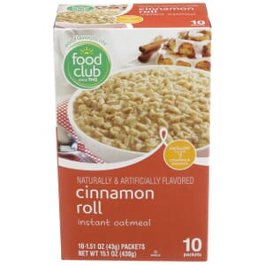 Cinnamon Roll Instant Oatmeal