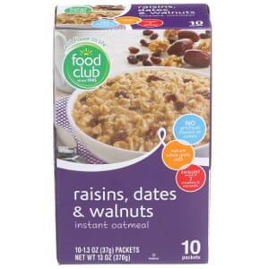 Raisins, Dates & Walnuts Instant Oatmeal