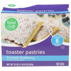 Frosted Blueberry Toaster Pastries