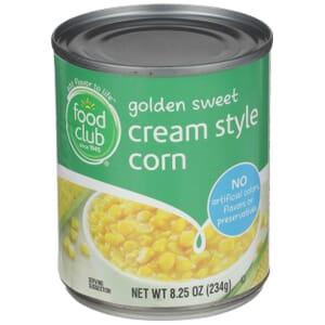 Golden Sweet Cream Style Corn