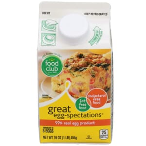 Great Egg-Spectations, 99% Real Egg Product