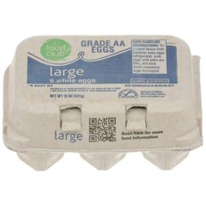 Grade AA Large Eggs, White