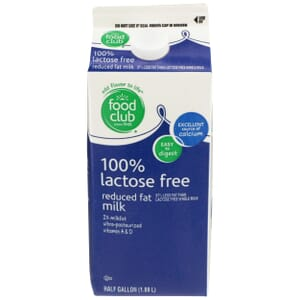 100% Lactose Free 2% Reduced Fat Milk