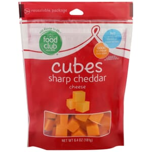 Cubes, Sharp Cheddar Cheese