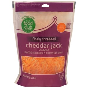 Finely Shredded Cheddar Jack Cheese