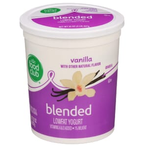 Vanilla Lowfat Yogurt, Blended