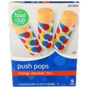 Orange Sherbet Push Pops