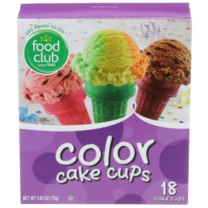 Color Cake Cups